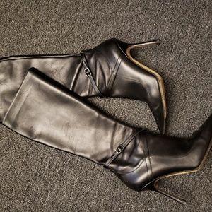 JIMMY CHOO tall black boots